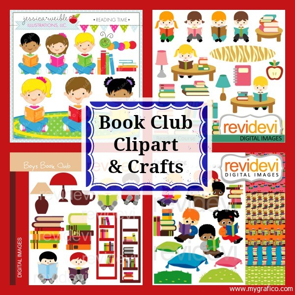 Book Club Clipart Crafts Mygrafico Party Ideas Giveaways Blog