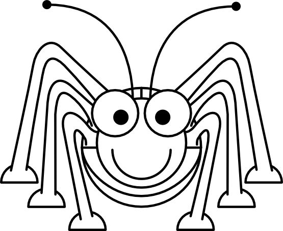 Cartoon Grasshopper Black White Line Studiofibonacci Coloring