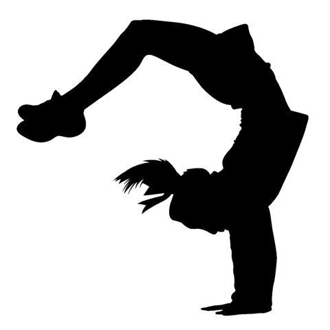 Cheer Jumps Silhouette Clip Art Bing Images Tumbling Clipart