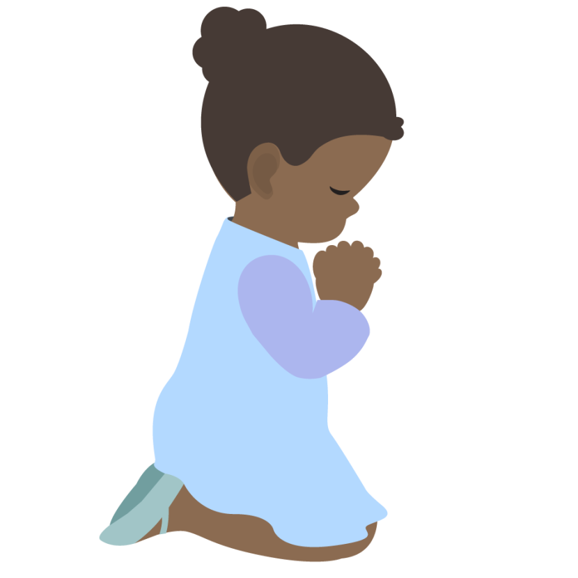 Children Praying Clipart Free