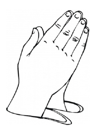 Children Praying Coloring Page Free