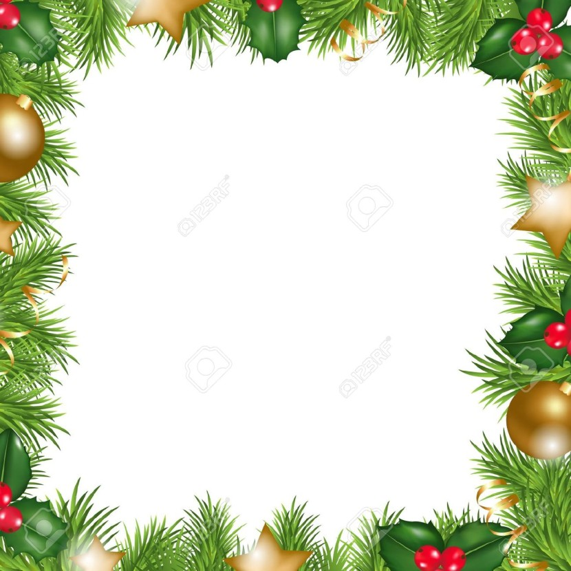 Christmas Border Best Template Collection