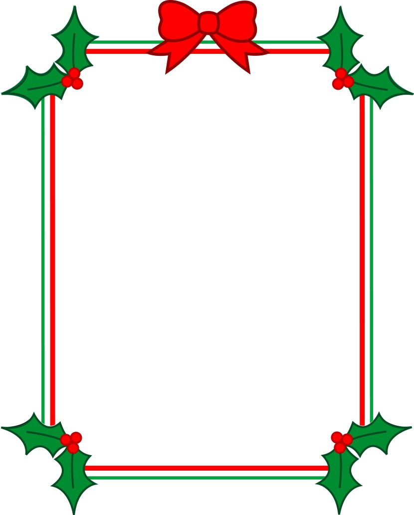 Christmas Cookie Border Clipart Free
