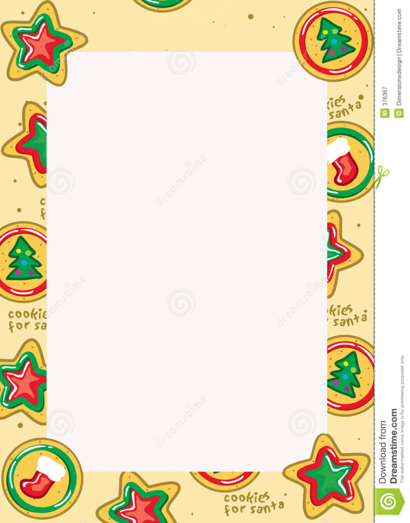 Christmas Cookie Border Free Graphy Image