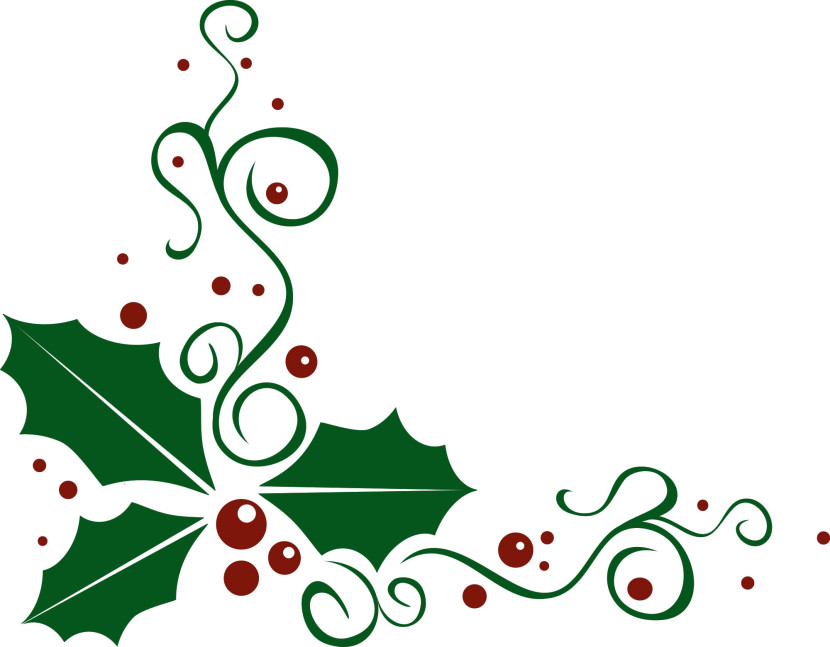 free xmas clipart holly - photo #17
