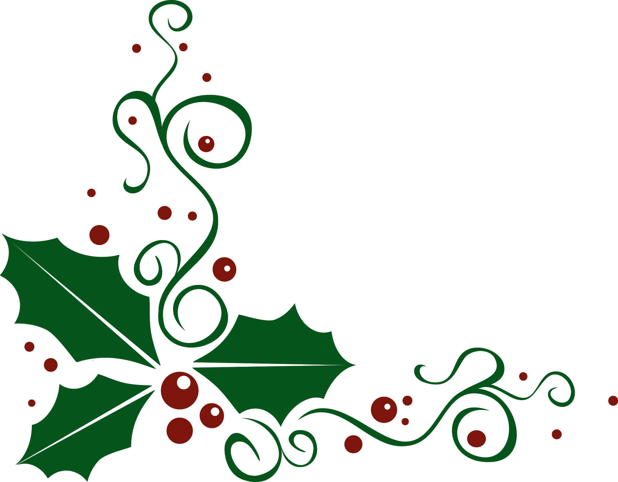 Best christmas holly clip art 22885 for Christmas images paintings