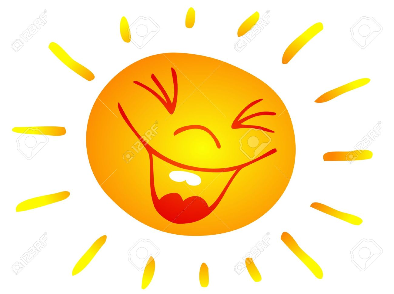 Clip Art Illustration Of A Smiling Sun Free Cliparts