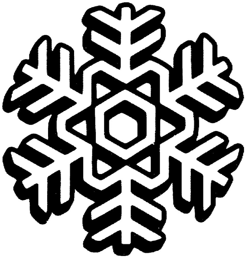 Clipart snowflake Black And White Snowflake