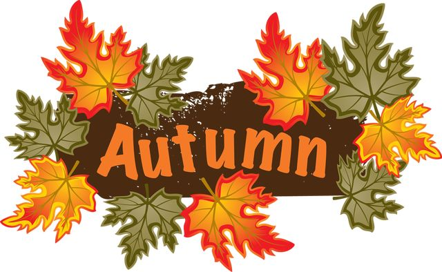 Colorful Clip Art For The Fall Season Autumn Leaves Clip Art