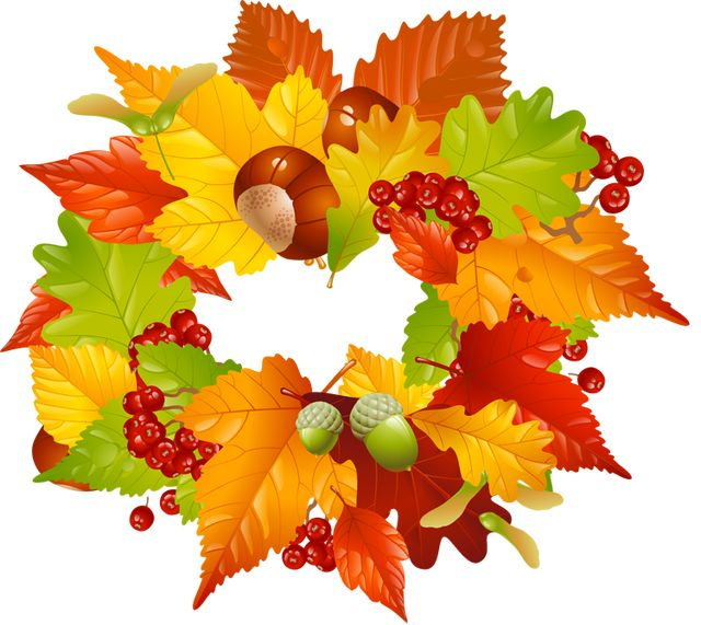 Colorful Clip Art For The Fall Season Fall Leaves Wreath Clip