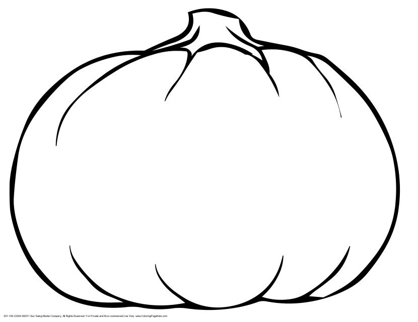 printable blank pumpkin coloring pages - photo#8