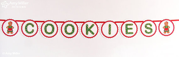 Cookies Diy Banner Great For A Christmasamymillerdesigns