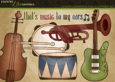 Country Life Graphics Music To My Ears Clipart