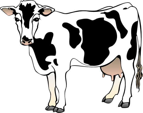 Cow Clipart Black And White Free