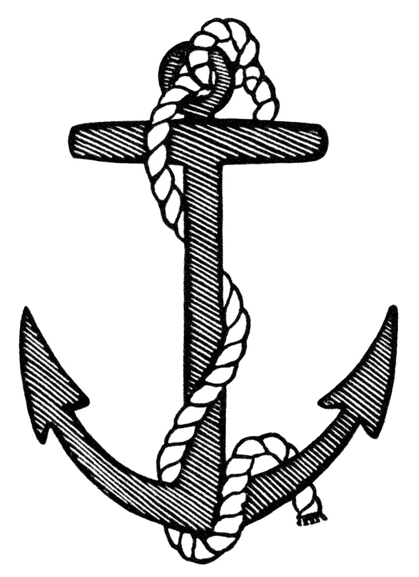 anchor clip clipart anchors crossed clipartion