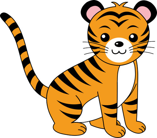 Cute Baby Tiger Clipart Free