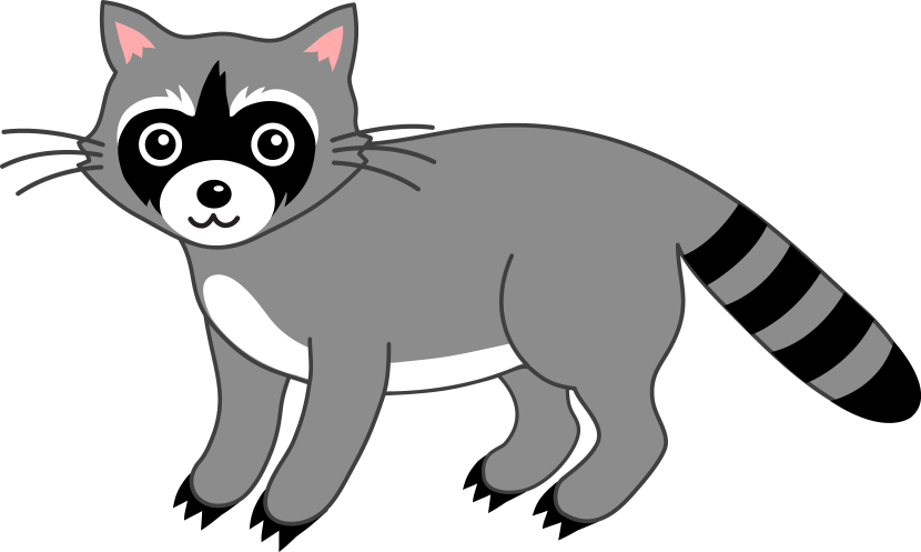 Cute Grey Raccoon Free Clip Art