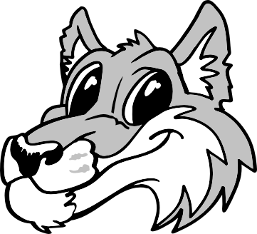 Cute Wolf Head Left Clipart Free