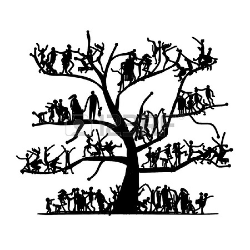 Black family clipart clipartion family tree clip art black and white free thecheapjerseys Image collections