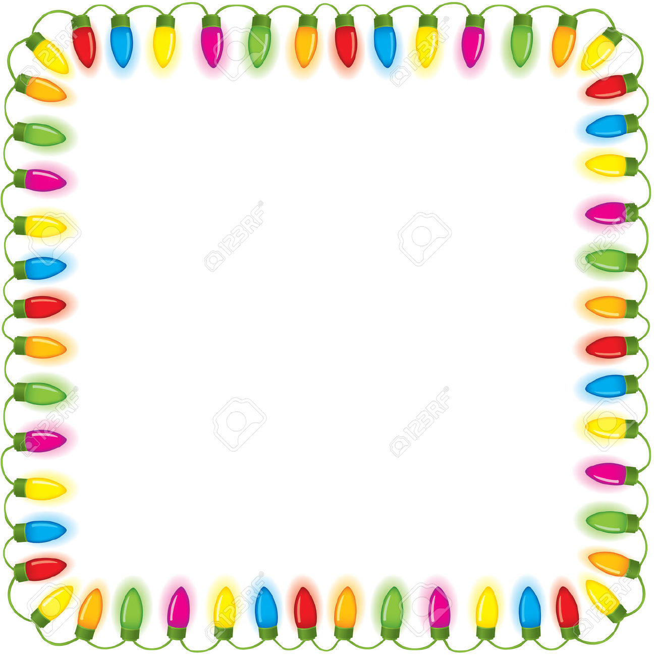 Festive Christmas Lights Free Cliparts Vectors And Stock