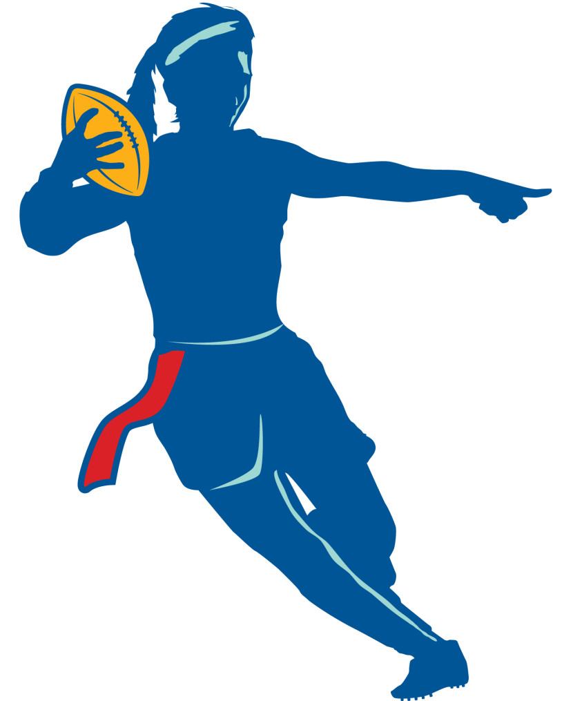 Flag Football Clipart Black And White Free