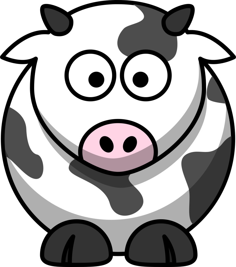 Free Cartoon Cow Clip Art
