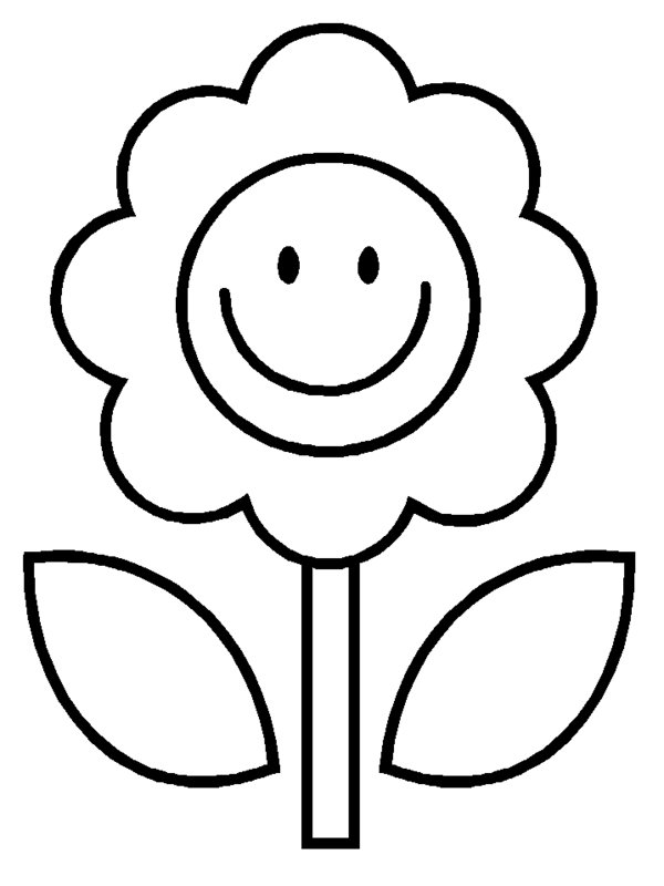 Free Coloring Pages Of Smiley Face Flower