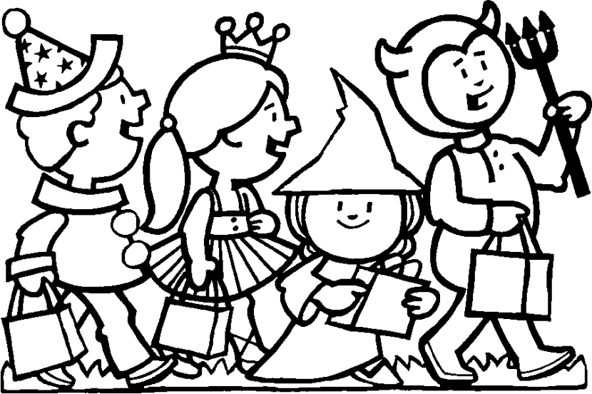 Free Coloring Pages Of Trunk Or Treat