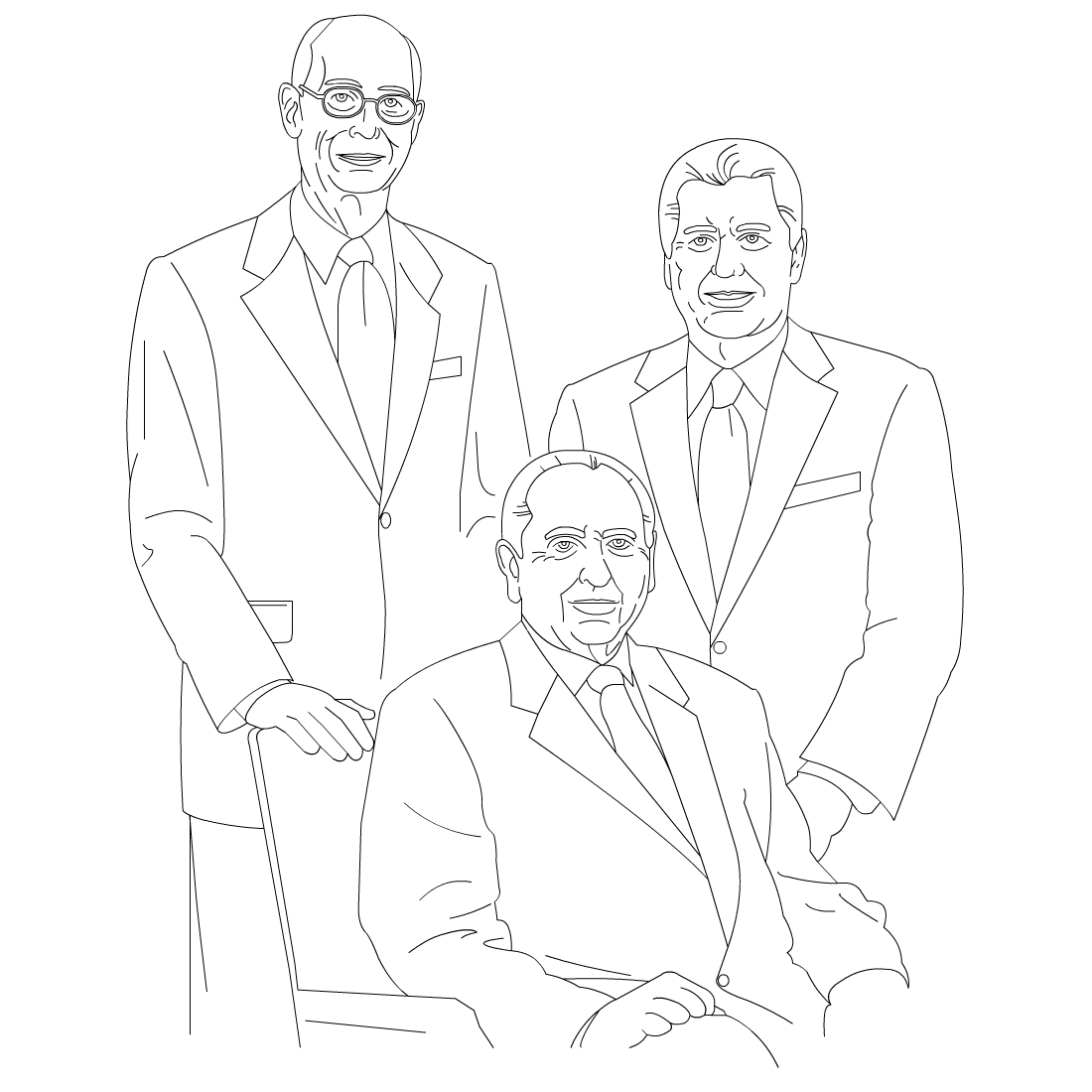 Free Lds Clipart To Color For Primary Children First Presidency