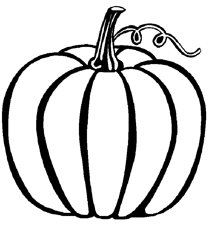 Pumpkin outline printable for Coloring pages pumpkin free