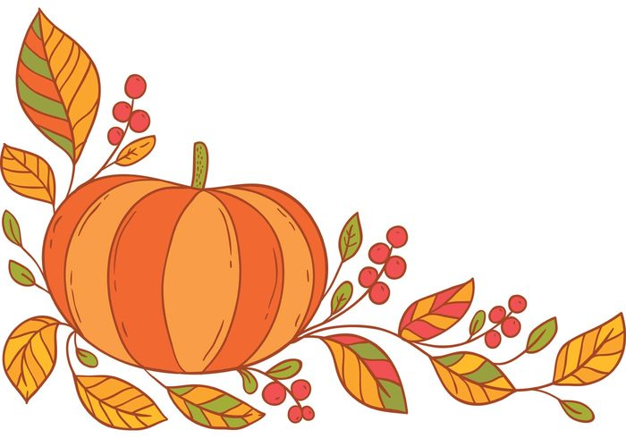 Free Thanksgiving Border Vector Vector Art Stock