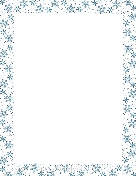 Free Winter Borders Clip Art Page Borders And Vector Graphics