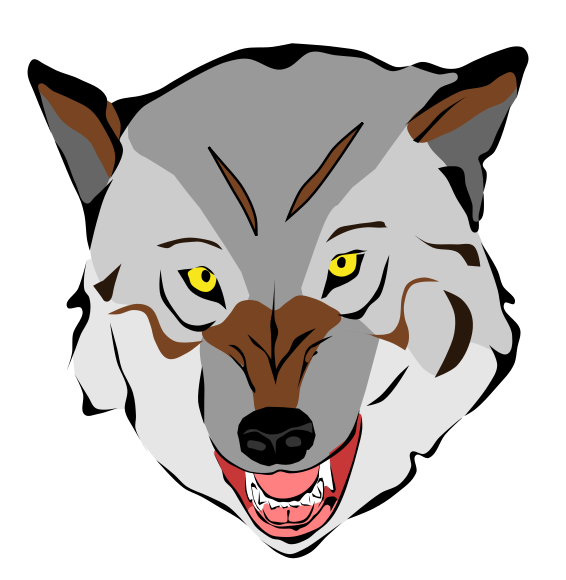 Free Wolf Face Clip Art