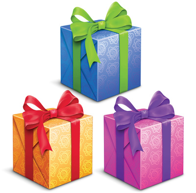 Gift Box Clip Art Ribbon Bow Ties Presents Just Free Image