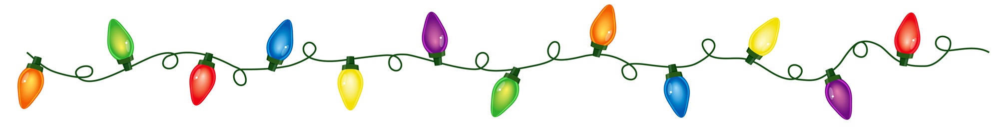 Do You String Christmas Tree Lights Top Bottom : Best Christmas Lights Border #22545 - Clipartion.com