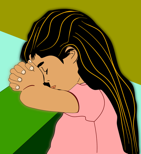 Girl Praying To God Most High Free Christian Clip Art