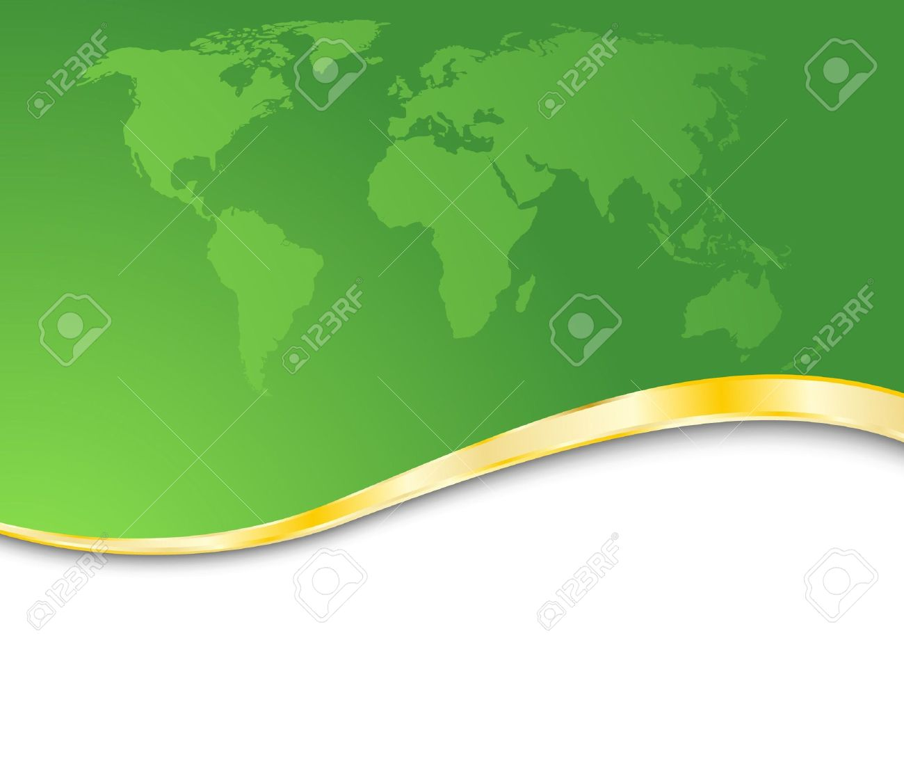 Green Business Card With Golden Rim Clip Art Free