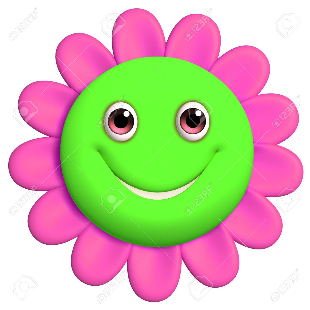 Green Smiley Face Images Stock Free