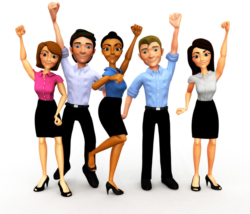 Group Of Happy People Clip Art Free