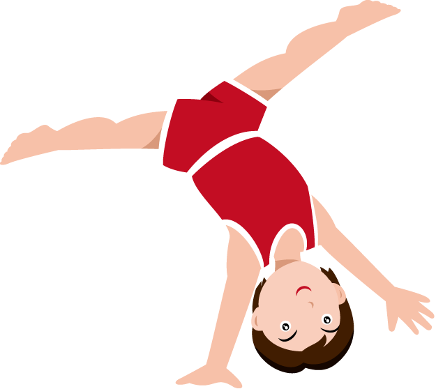 Gymnastics Clipart Black And White Free Clipart Tumbling Clipart