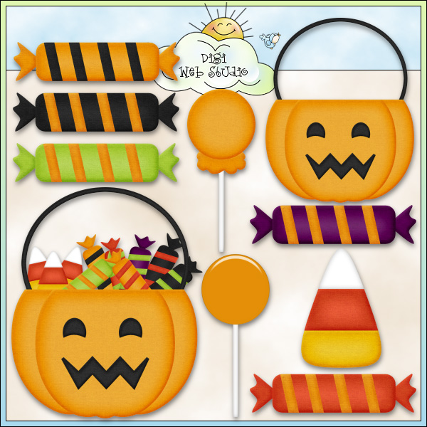 Halloween Candy Bowl Clipart