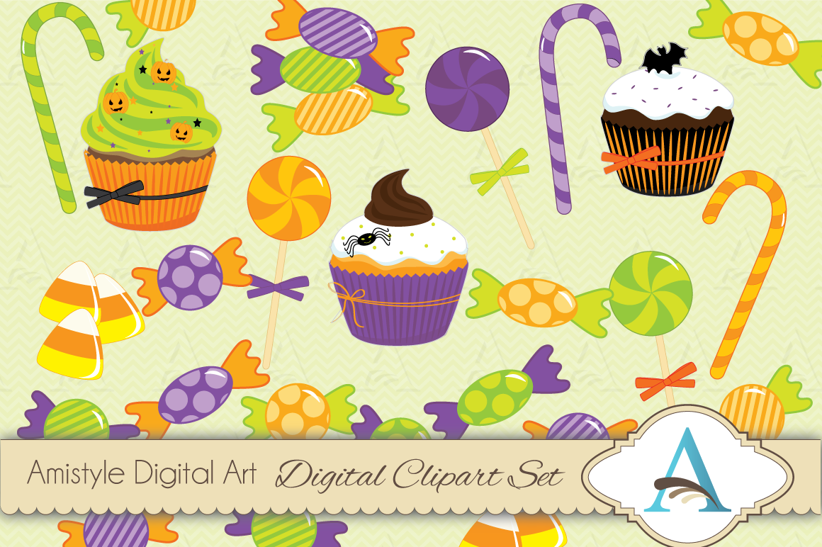 Halloween Candy Clipart Set Illustrations On Creative Market