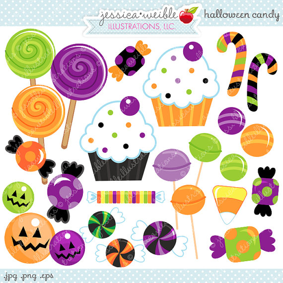 Halloween Candy Cute Digital Clipartjwillustrations