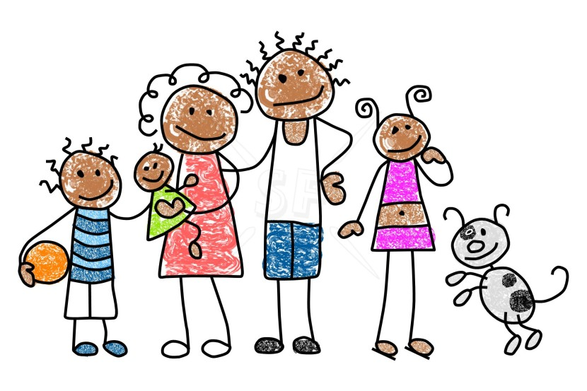 Happy Black Family Clipart Free