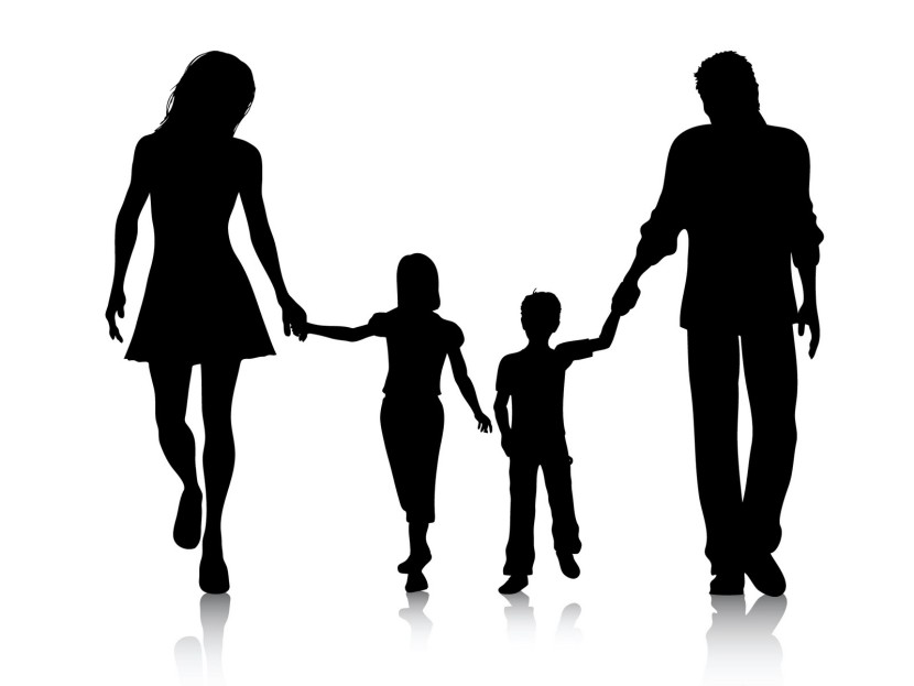 Happy Family Clipart Black And White Free