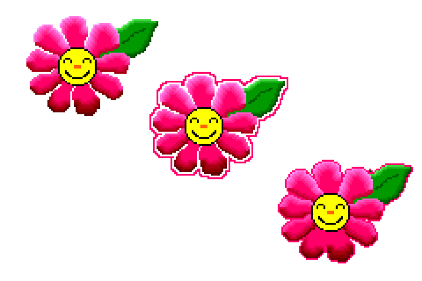 Happy Smiley Face Flowers 3 Make Pixel Art Com