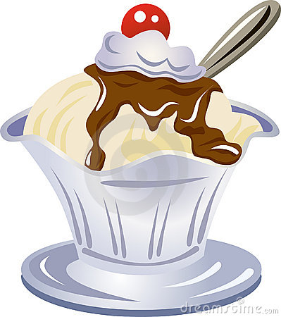 Hot Fudge Sundae With Whipped Cream And Cherry Free Stock