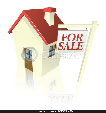 House For Sale Graphic Stock Vector