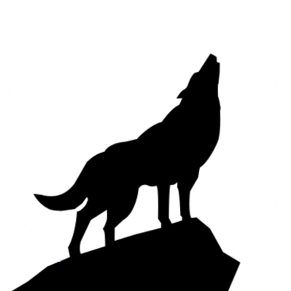 Howling Wolf Silhouette Psd Free Images At Vector