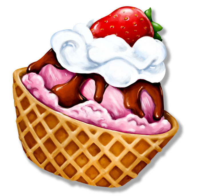 Ice Cream Sundae Clipart